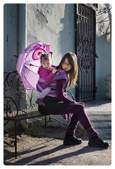Purple #babywearing
