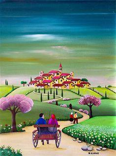 About Zenone – Zenone Art Art And Illustration, Italian Artist, Naive Art, Art Plastique, Landscape Art, Home Art, Watercolor Paintings, Art Drawings, Artsy