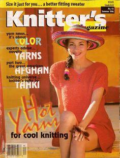 Knitters 43 Summer 1996 Tank Tops Sweaters Cardigans Twin Set Afghan  #KnittersMagazine #KnittingPatterns