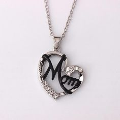 """Heart Shape""""MOM"""" Necklace For Mother's Day Gift – Engraved Giftsly All rights reserved Unique Gifts For Mom, Gifts For Your Mom, Perfect Gift For Mom, 14k Gold Necklace, Drop Necklace, Washer Necklace, Christening Gifts For Boys, Meaningful Gifts, Mother Day Gifts"""