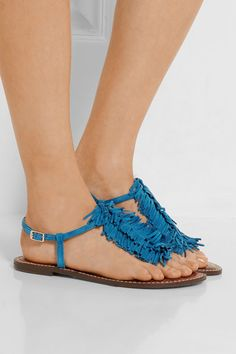 6c6c4d5ada9b Sam Edelman - Gela fringed suede sandals