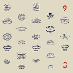 Work by LAND: The Ageless Designs of Caleb Owen Everitt and Ryan Rhode Vintage Logo Design, Vintage Typography, Typography Logo, Typography Letters, Typography Design, Logo Branding, Lettering, Graphic Design, Patagonia Logo