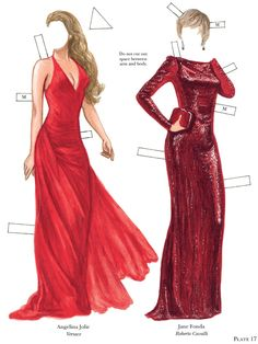 Ladies in Red Paper Dolls: Famous Fashions from Great Designers Dover Publications
