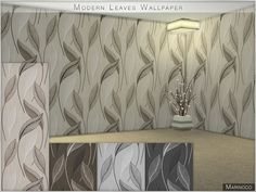 Marinoco's Modern Leaves Wallpaper