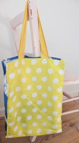Tea towel tote. Pattern from Cath Kidston's Sewing Book