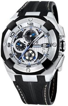 Click Image Above To Purchase: Festina Mens Chronograph Stainless Watch - Black Leather Strap - White Dial - Sporty Watch, Casio Watch, Luxury Watches, Chronograph, Hermes, Men's Fashion, Black Leather, Image, Accessories