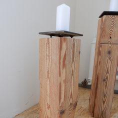 «stupido» der Kerzenständer aus Altholz und Stahl aus der produktewerkstatt ruedi humbel Candle Holders, Candles, Home, Old Wood, Steel, Candlesticks, Ad Home, Homes, Candelabra