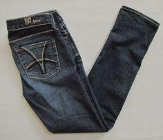 "Kut From The Kloth Jeans 4 Katy Boyfriend Slim Straight Dark Stretch Denim 29"" #KUTfromtheKloth #Boyfriend"