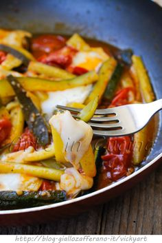 Zucchine in padella con pomodori e scamorza vickyart arte in cucina