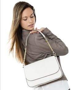 Can be worn with crossbody strap too! Calf Leather, Leather Bag, Bag Accessories, Calves, Lady, Fashion, Handbags, Women's, Moda