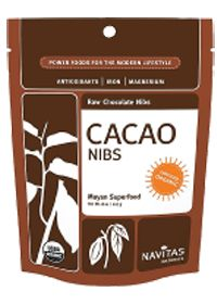 Organic Cacao Nibs by Navitas Naturals - naturally rich supply of antioxidants and is an excellent source of dietary fiber. Use in oatmeal, yogurt, smoothies etc. Buy Organic Cacao Nibs 8 Granules at the Vitamin Shoppe