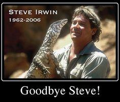 Steve Irwin with croc