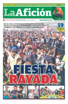 Portada La Afición Ed. Monterrey 14/04/14 | FIESTA RAYADA