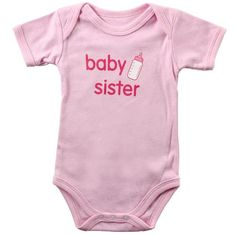 Luvable Friends Baby Sayings Bodysuit - Baby Sister 9-12 months