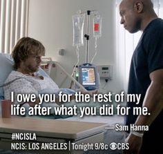 Aww Sam!! :') #NCIS:LA