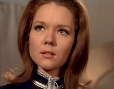 Diana Rigg as Mrs. Emma Peel in the Avengers.