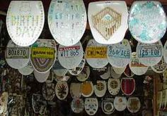 Barney has been creating these works of art for 30 years and now has over 700 differently decorated Toilet Seats: Toilet Seat Art Museum 239 Abiso Alamo Heights, TX 78209