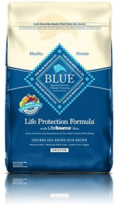 Dry Dog Food - BLUE Life Protection Formula Senior Chicken and Brown Rice Dry Dog Food 30lb *** You can get additional details at the image link. (This is an Amazon affiliate link)