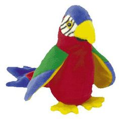 TY Beanie Baby - JABBER the Parrot (6.5 inch)