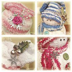 Handmade Sock Snowmen Tutorial by annette Sock Snowman Craft, Sock Crafts, Snowman Crafts, Holiday Crafts, Snowman Ornaments, Kid Crafts, Christmas Swags, Christmas Snowman, Christmas Crafts