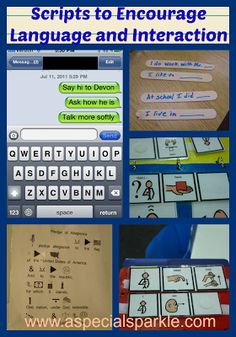 A Special Sparkle: Using Scripts to Encourage Language and Interaction. Repinned by SOS Inc. Resources @SOS Inc. Resources.