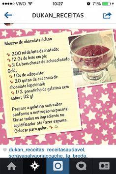 Mousse Chocolate - Dieta Dukan