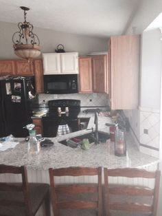 my mom s kitchen renovation is complete, kitchen backsplash, kitchen cabinets, kitchen design, painting