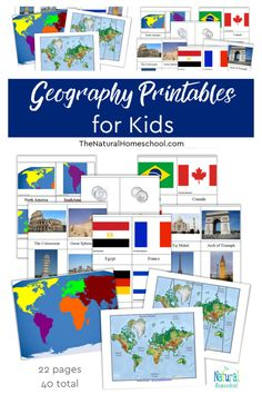 Geography Printables for Kids Take a look at our wonderful set of fun and educational Geography Printables for Kids! This is a great bundle to use over and over again to teach kids the basics on Geography! #montessorigeographyprintables #homeschool #montessorigeographymaterials #montessorigeogrpahyactivites Classical Education, Gifted Education, Fall Cleaning, How To Start Homeschooling, English Language Arts, Homeschool Curriculum, Teaching Kids, Geography, Fun Crafts
