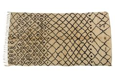 Beni Ouarain rugs like this one are distinguished by their plush wool pile and geometric motifs. Soft Furnishings, Animal Print Rug, Plush, Wool, Rugs, Animals, Accessories, Home Decor, Furniture