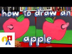 How To Draw An Apple Cutout For Young Artists - YouTube