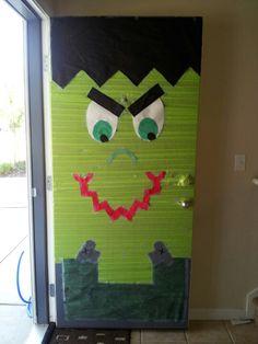 Frankenstein door. & Frankenstein door decoration | Halloween | Pinterest | Frankenstein ...