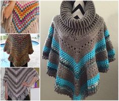 How to crochet a poncho.,