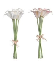 Another great find on #zulily! Calla Lily Bouquet - Set of Two #zulilyfinds