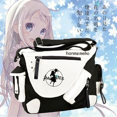 (28.39$)  Buy here - http://aie3j.worlditems.win/all/product.php?id=32608859924 - Anime Anohana Honma Meiko Canvas Messenger Bag Unisex Shoulders Bag Schoolbag Free Shipping