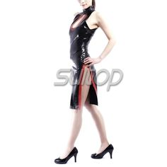>> Click to Buy << Latex Rubber tight cheongsam Dress black color sexy club sheath dresses short sleeves cheongsam Chinese Style #Affiliate