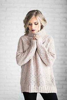 shop jessakae, sweaters, turtleneck, blush sweater, blush, mauve, holiday hair, holiday makeup, vivian makeup artist, ribbed sweater, womens fashion, ootd, style, fashion - plus size womens clothing, discount womens clothing, clothing dress womens