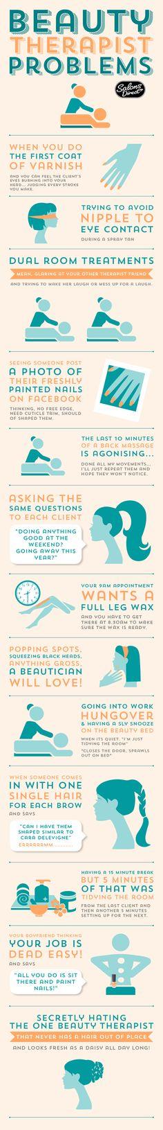 Beauty Therapist Problems #beautytherapist