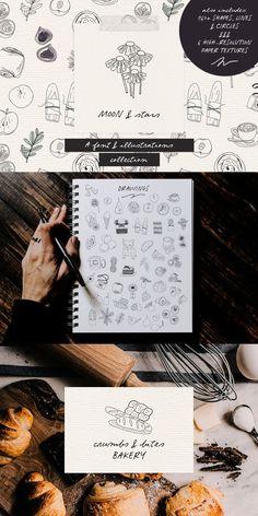Moon and Stars is a handwritten script font and illustrations collection, perfect to create cute handmade designs, such as logos, packaging, prints and postcards, patterns, and social media posts. #fonts #typography #drawings High Resolution Paper Texture, Minimal Business Card, Handwritten Script Font, Brush Font, Cool Fonts, Handmade Design, Stars And Moon, Website Template, Drawing S