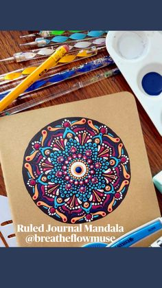 Mandala Painting, Dot Painting, Mandala Art, Gifts For Friends, Gifts For Her, Special Rangoli, Altered Book Art, Boho Bedroom Decor, Stationery Design