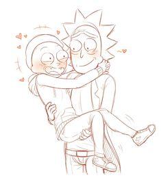 Read RICK Y MORTY from the story imágenes Rickorty, Rick-Cest , Rick y Morty by jolyxx (jolyxx ! Rick And Morty Drawing, Rick And Morty Tattoo, Tatuaje Rick And Morty, Rick And Morty Characters, Cute Love, Fandoms, Fan Art, Cartoon, Drawings