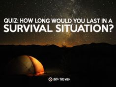 How Long Would You Last In A Survival Situation? http://ift.tt/1RR2Ogy  #World