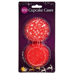 100 Christmas Cupcake Cases-great value for setting off all that christmas baking. Christmas Items, Christmas Baking, Cupcake Cases, Christmas Cupcakes, Just In Case, Xmas, Board, Christmas Biscuits, Christmas