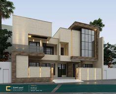 Duplex House Design, Unique House Design, House Front Design, Garden Design Plans, House Elevation, Architect House, Facade Design, Beautiful Buildings, Awesome House