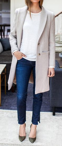 Simple chic grey coat