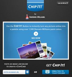 Online paint tool- Chip it.  type in an images url into the Chip It! website OR drag the tool onto your toolbar to coordinate paint colors on the fly.