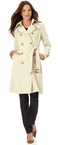 3. For a classic shape and great quality at an affordable price, this London Fog Trench Coat ($89.98) is a good option.