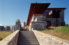escalier de jardin élégant en pierre