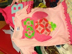 Happy 2nd birthday Harper!! Free hand machine embroidered pink owl on a Rabbit Skins frilly tshirt