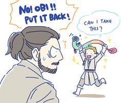 XD Little Obi and Master Qui-Gon