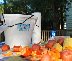 """Get Carried Away's """"Shrimp Boil in a Bucket""""... and that's all we have to say about that!   - Pawleys Island, SC - Download the Free Life in PI App for more info! you can also visit Life-in-PI.com"""